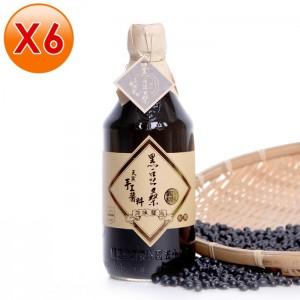 非基改天然靜置釀造醬油【黑豆桑】天然純釀原味醬油6瓶