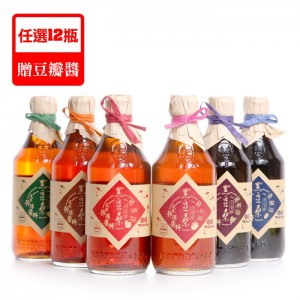 天然靜置釀造【黑豆桑】天然手工淳12瓶(任選不包含桑諾)-贈豆瓣醬