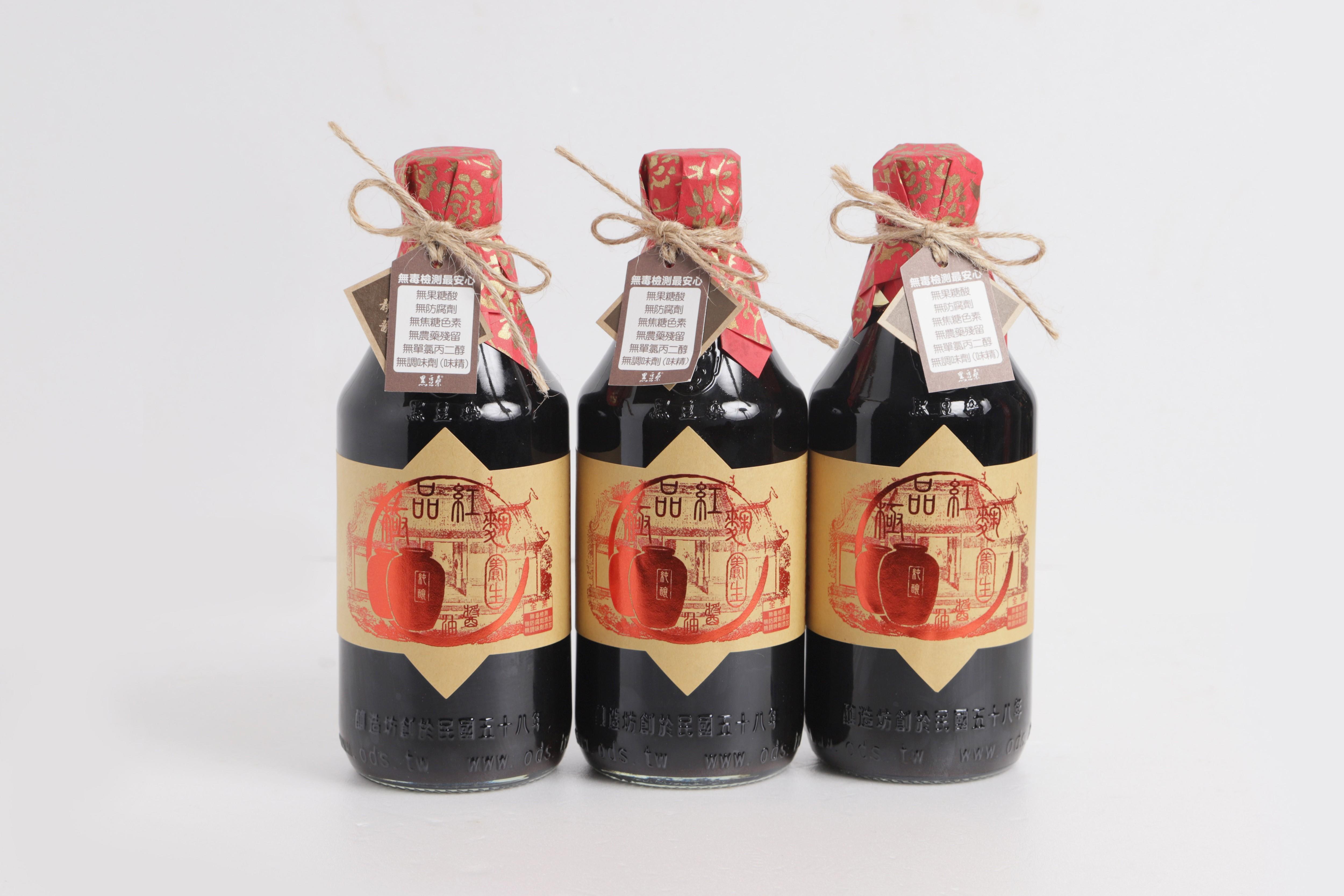 【黑豆桑】香醇紅麴組|紅麴醬油*3