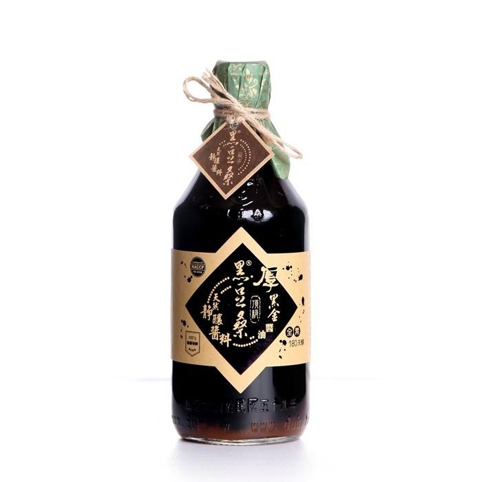無麥麩非基改醬油【黑豆桑】天然極品頂級厚黑金醬油
