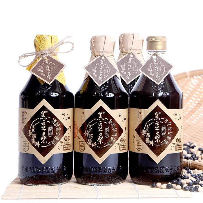 非基改靜釀醬油【黑豆桑】熱賣小巧組(金豆醬油X1+缸底醬油X2+黑金醬油X1)