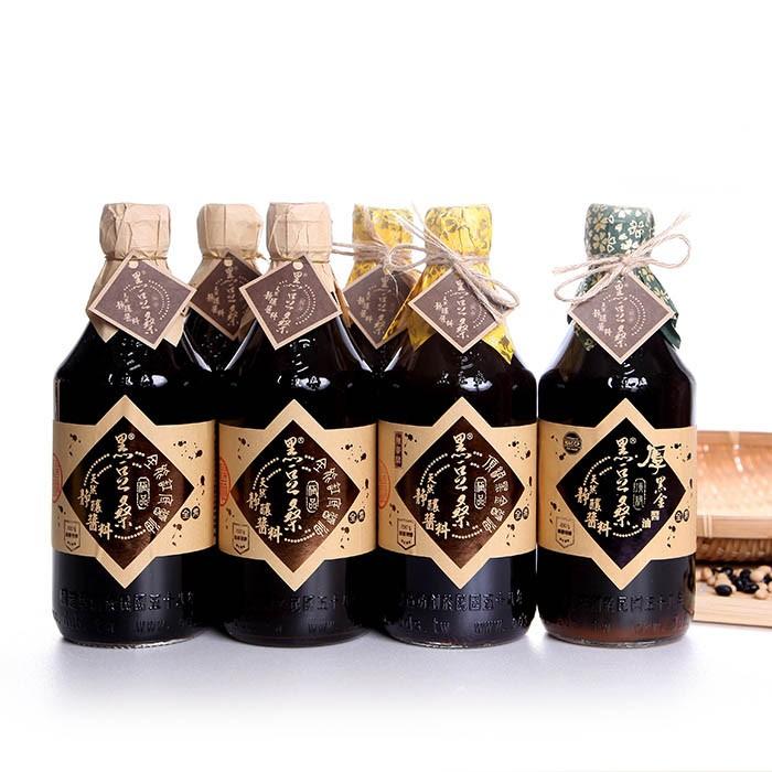 非基改黃豆靜置釀造醬油-【黑豆桑】醇釀精選組