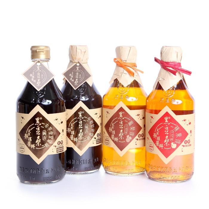 【黑豆桑】和風清爽組(金豆醬油1瓶+缸底醬油1瓶+水果淳2瓶)