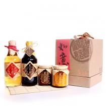 【黑豆桑】吉祥如意禮盒-黑金+蘋果+豆瓣+黑豆豉