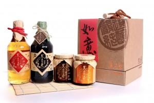 【黑豆桑】家庭必備禮盒組(厚黑金+蘋果淳+黑豆豉+豆瓣醬)