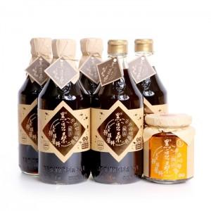【黑豆桑】手工美味三寶組(金豆醬油2瓶+缸底醬油3瓶+美味辣豆瓣1罐)